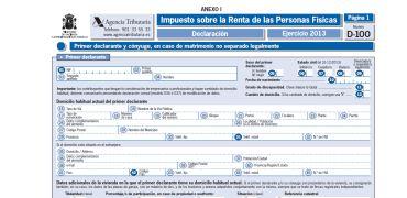 declaracion de la renta 2013