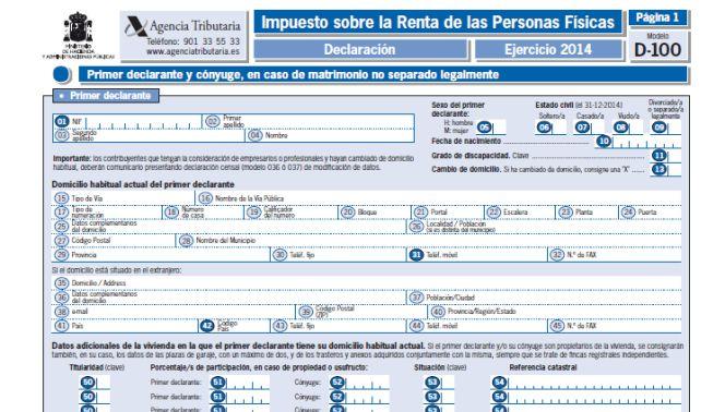 Renta 2014: cómo, cuándo y dónde presentar la declaración de IRPF