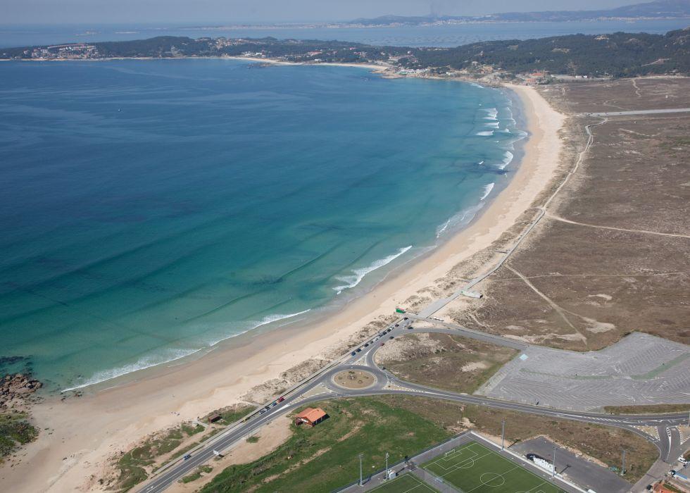 Playa de la Lanzada, de las más visitadas en las Rias Baixas.