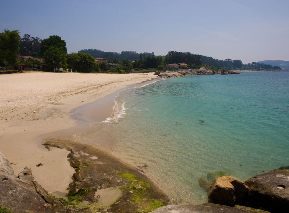 Playa de Menduiña, en Pontevedra (Galicia).