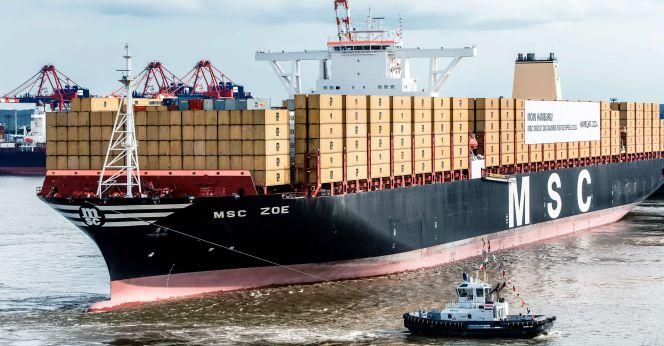 Bautizado en hamburgo el mayor barco transportador de contenedores del mundo empresas cinco d as - Contenedores de barco ...