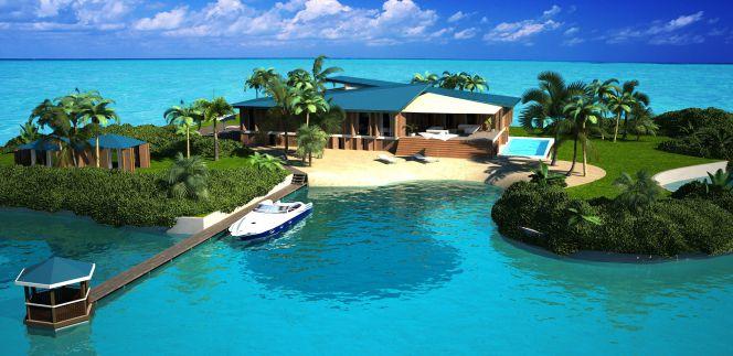 Lo último para millonarios: mansión en una isla flotante