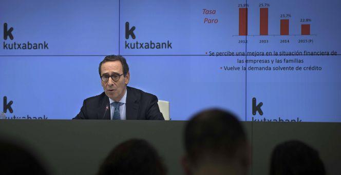 El presidente de kutxabank se rebaja un 25 el sueldo for Oficina kutxabank vitoria