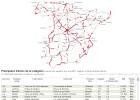 Mapa del riesgo en las carreteras de España