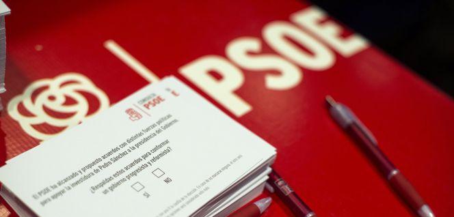 La militancia del PSOE avala el pacto con Ciudadanos