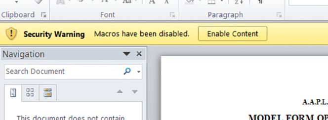 Un nuevo truco permite infectar de virus con un simple documento Word