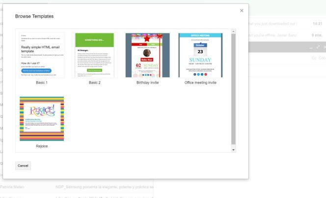 plantillas Gmail