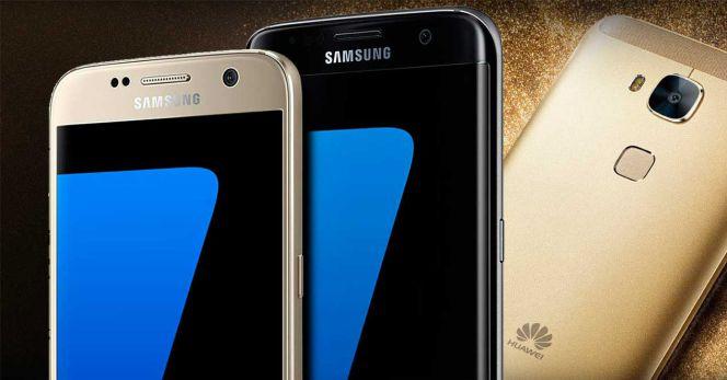 Smartphones Samsung y Huawei