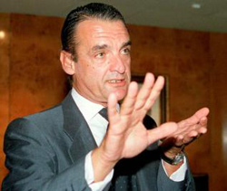Mario Conde, presidente de Banesto