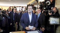Mariano Rajoy votando el 20 de diciembre