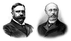 Raimundo Fernández Villaverde y Francisco Silvela